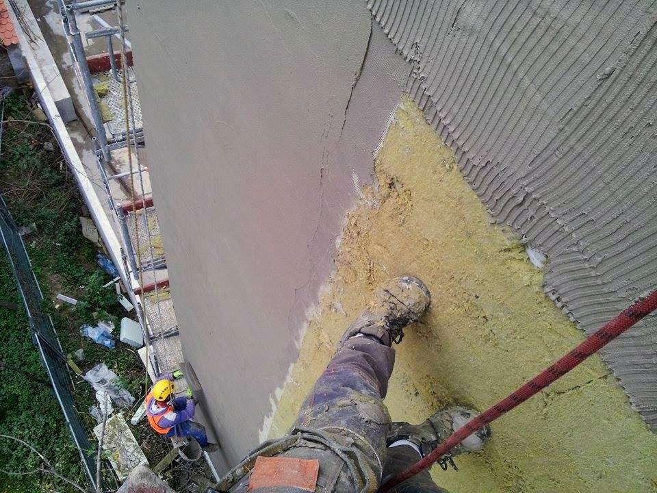 Zateplení fasády - výškové práce