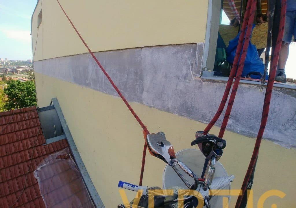 Parlinka a penetrační nátěr fasády - výškové práce